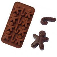 Силиконовая форма для шоколада и карамели Рождественский человечек