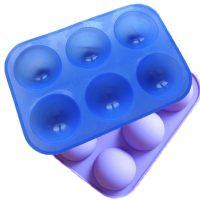 Силиконовая форма для десерта полусфера 6 ячеек