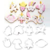 Набор форм для печенья Праздник единорога, 8 шт, пластик