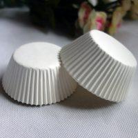 Бумажные формы для кексов  Белые50*40  100 шт