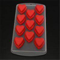 """Силиконовые формы для шоколада, желе и льда """"Сердечки"""""""
