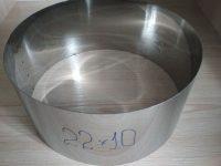 Формы для заливки и формовки десертов и тортов d=22см, h-10см