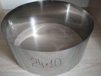 Формы для заливки и формовки десертов и тортов d=24см, h-10см