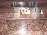 Формы для заливки и формовки десертов и тортов 18*18 см, h-10см