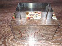 Формы для заливки и формовки десертов и тортов 16*16 см, h-10см