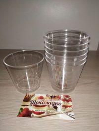 Пластиковые стаканчики для десертов №6 (10шт)