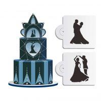 Жених и невеста Набор трафаретов