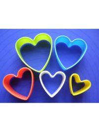 Сердечки - набор резаков из 5-и